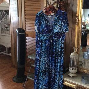 9ec27b94531c4 Women s Black And Blue Avenue Maxi Dress on Poshmark